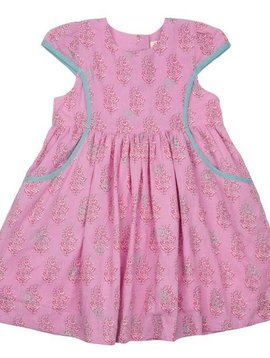 Pink Chicken Cyclamen Floral Eden Dress