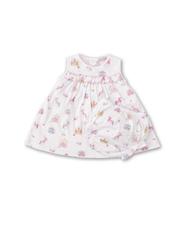 Kissy Kissy Pink Stripe Unicorn Castle Dress Set
