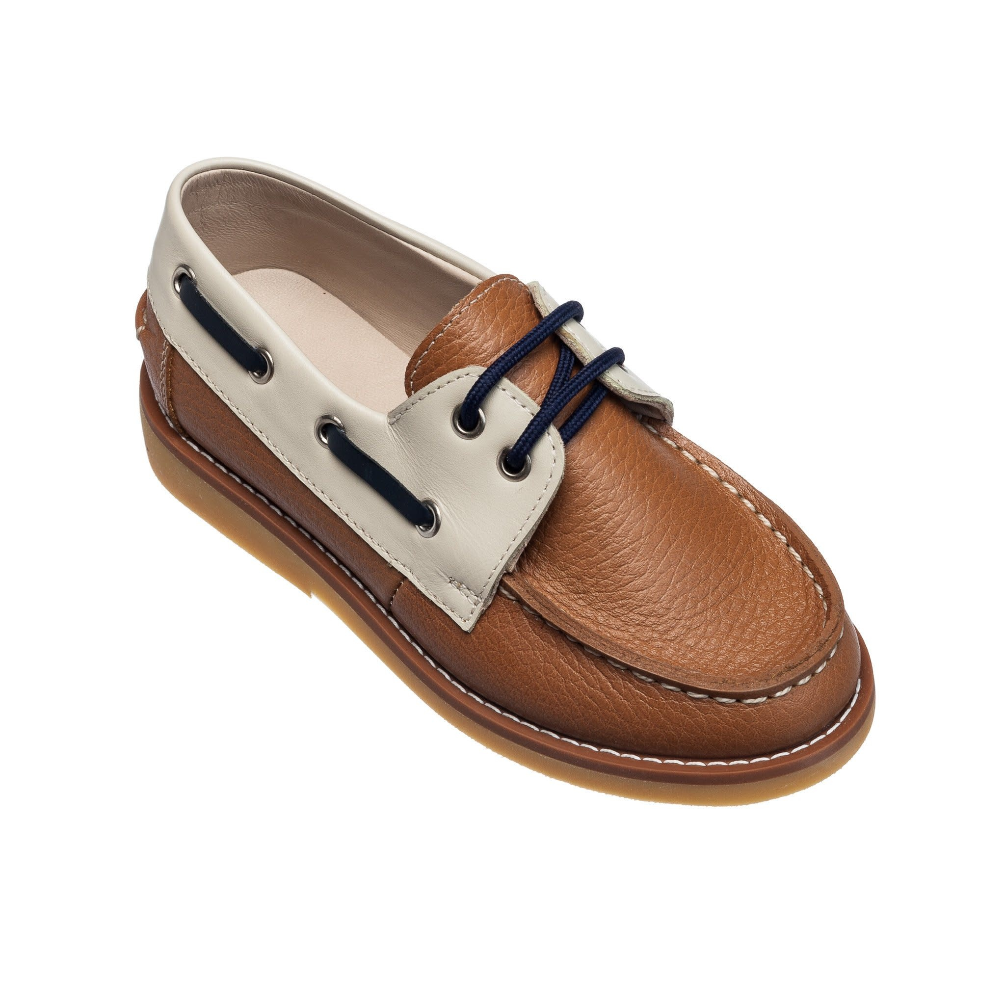 Elephantito Caramel Boat Shoes