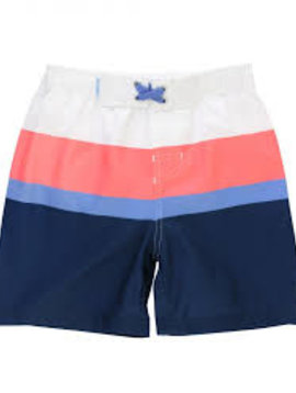 Ruffle Butts Color Block Swim Trunks
