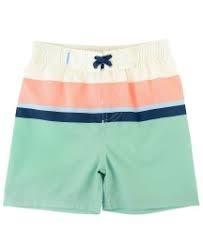 Ruffle Butts Color Block Swim Trunks