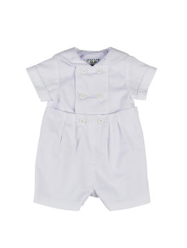 Florence Eiseman White Pique Button-On Suit