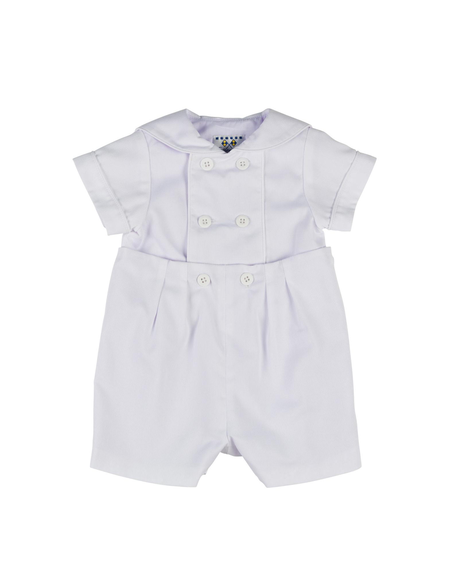 Florence Eiseman White Pique Button-On Suit