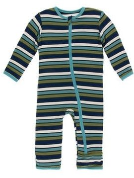 Kickee Pants Botany Stripe Coverall
