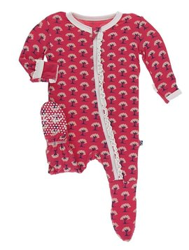 Kickee Pants Red Mini Trees Footie