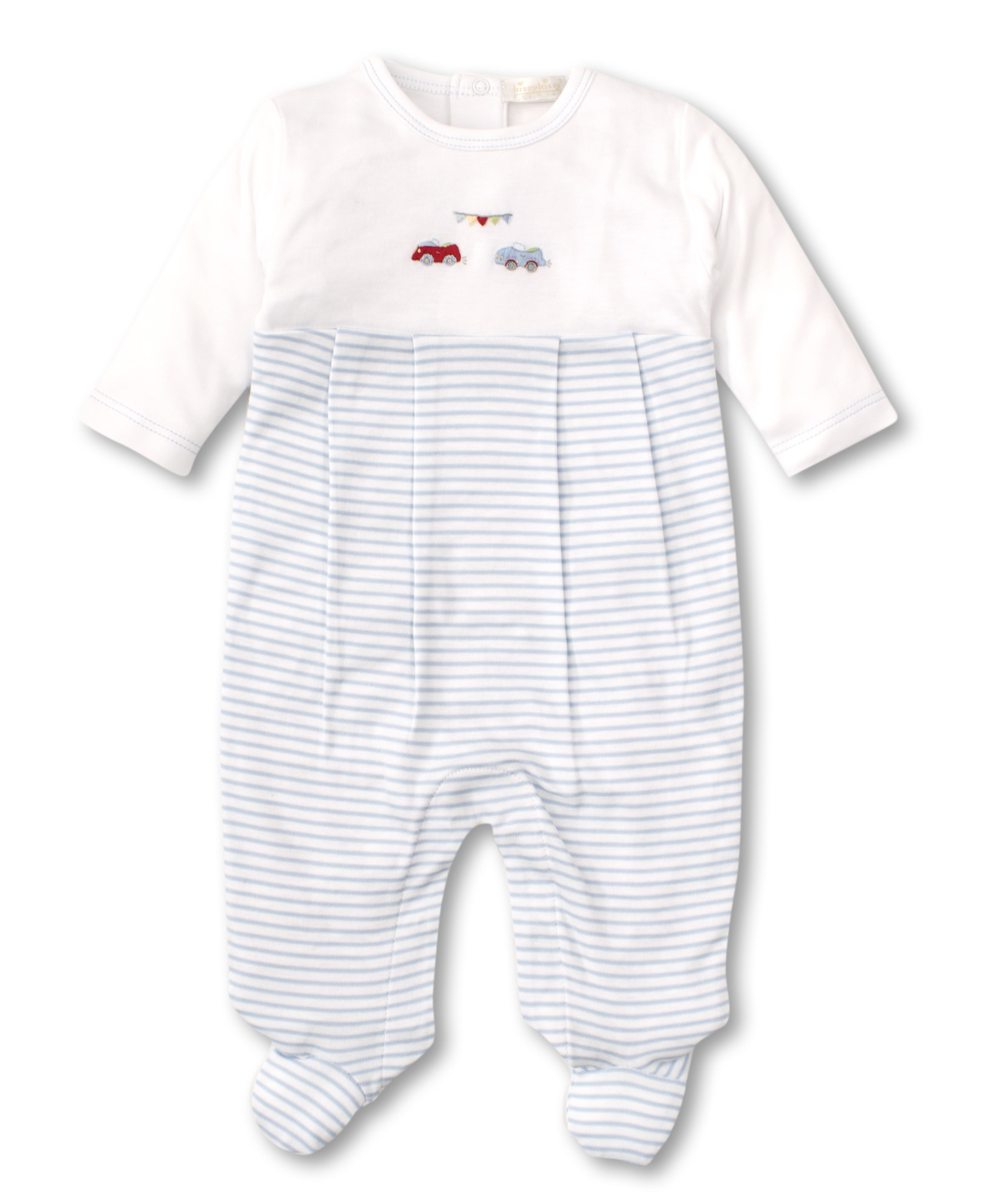 Kissy Kissy Sports Car Embroidered Footie