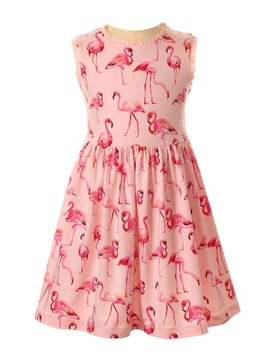 Rachel Riley Flamingo Jersey Dress