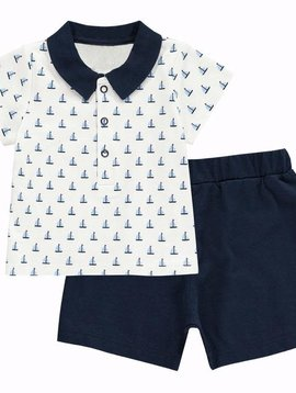 Rachel Riley Sailboat Polo Short Set
