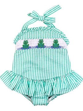 Bailey Boys Frogs Ruffle Swimsuit