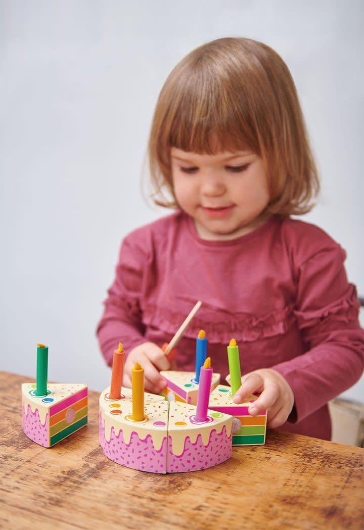 Tender Leaf Toys Rainbow Birthday Cake Set