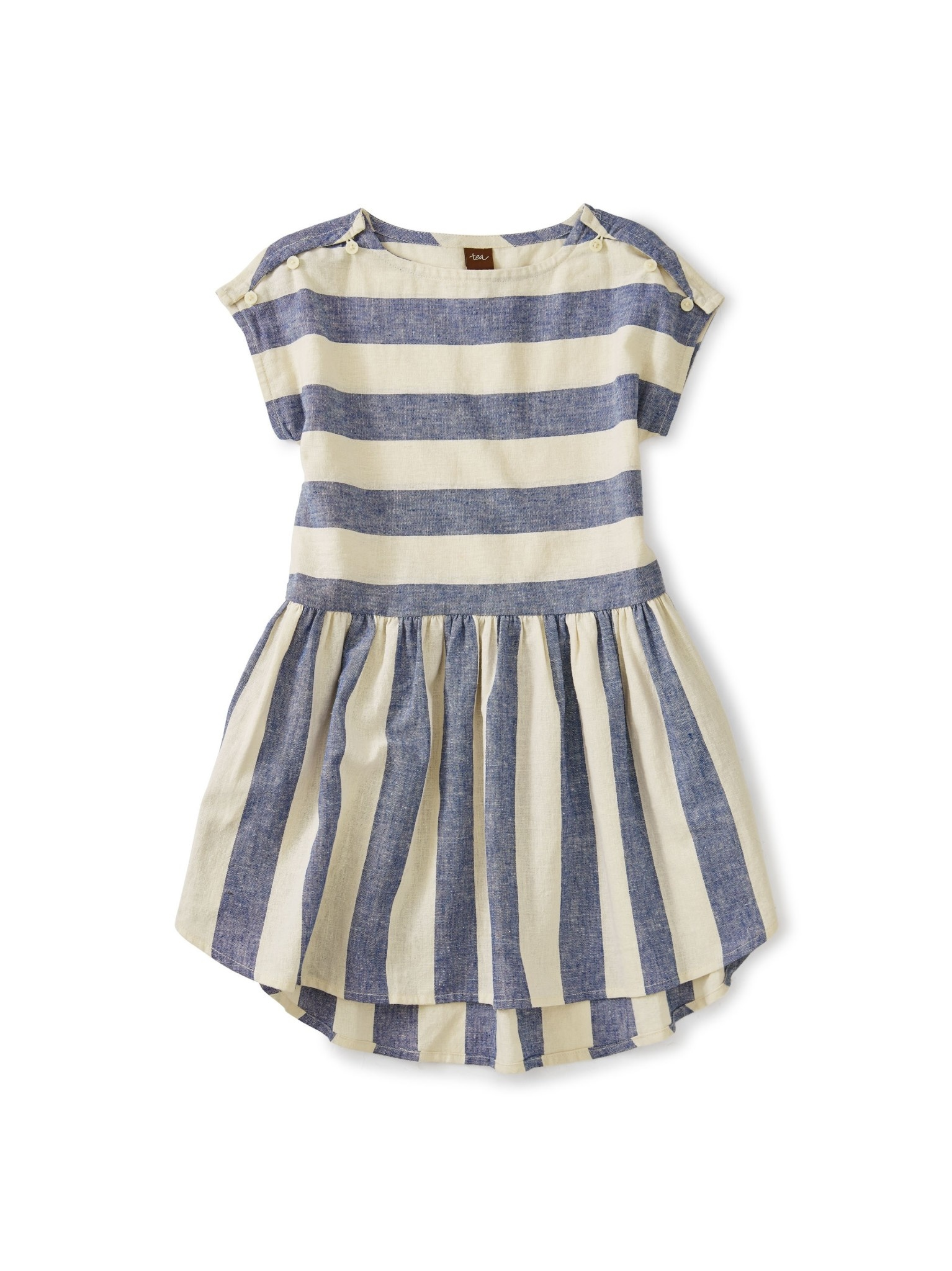 Tea Collection Astral Button Shoulder Dress