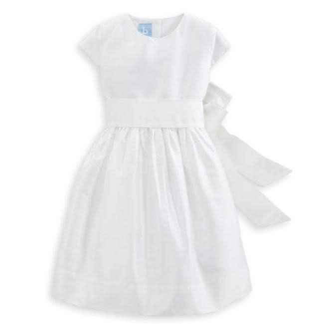 Bella Bliss White Taffeta Party Dress