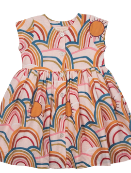 Pink Chicken Winnie Rainbows Dress