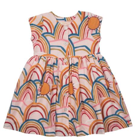 Pink Chicken Winnie Rainbows Dress