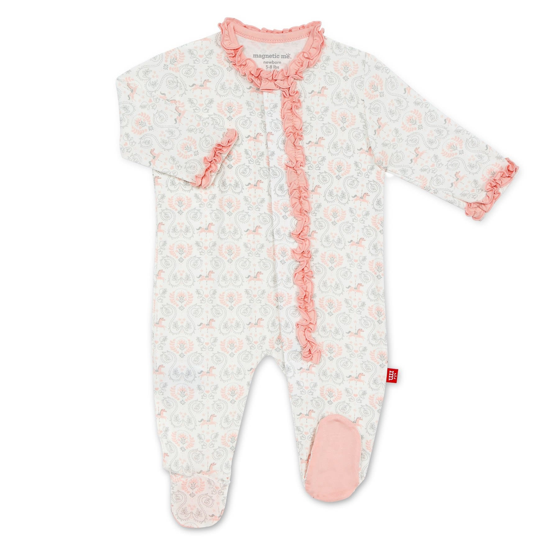 Magnificent Baby Carousel Ruffle Footie