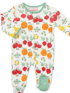 Magnificent Baby Perfect Puns Organic Footie