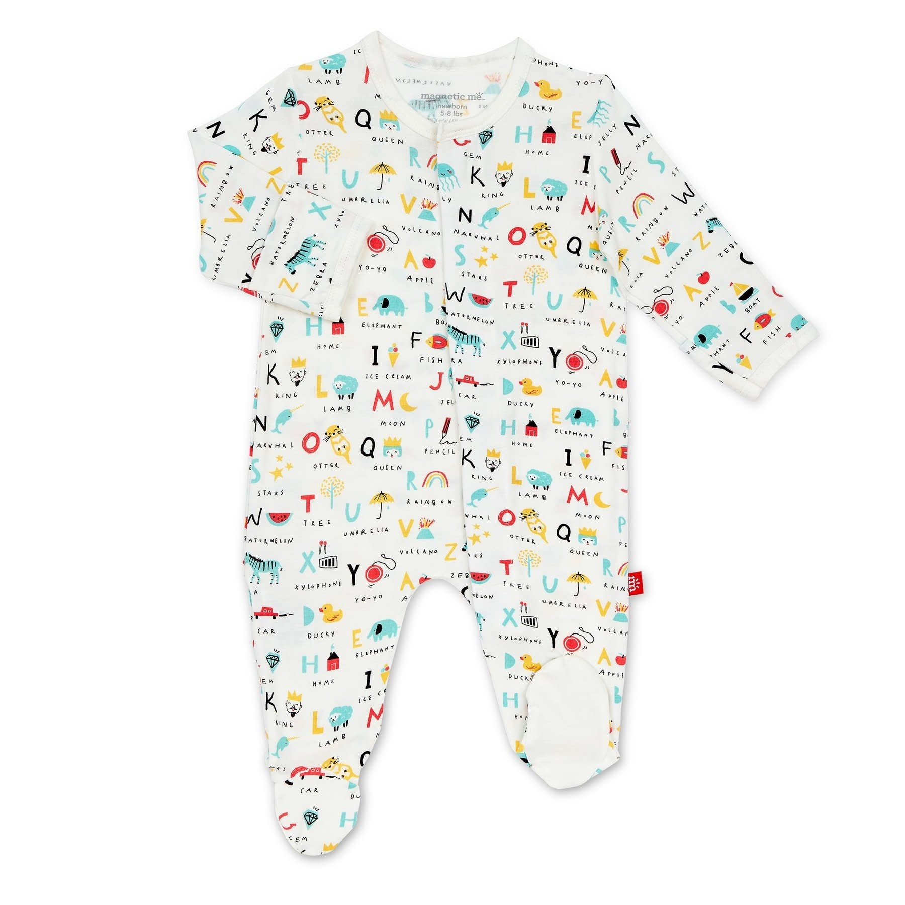 Magnificent Baby ABC Love Footie