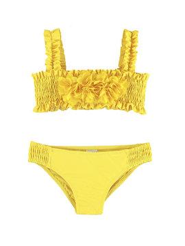 Mayoral Yellow 3D Floral Bikini