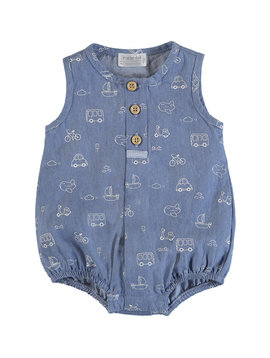 Mayoral Indigo Transportation Romper
