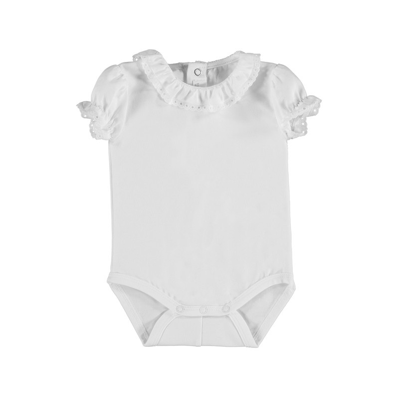 Mayoral White Short Sleeve Bodysuit