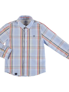 Mayoral Hibiscus Check Button Down