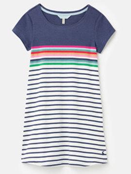 Joules Stripe Short Sleeve Riviera Dress