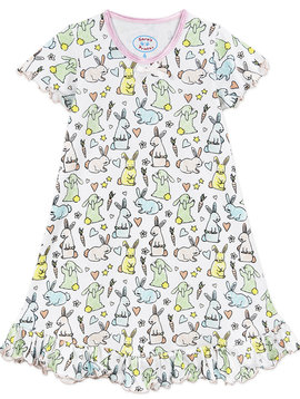 Sara's Prints Bunny Ruffled Nightie