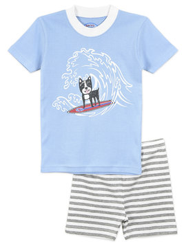 Sara's Prints Surf Puppy PJ Short Set