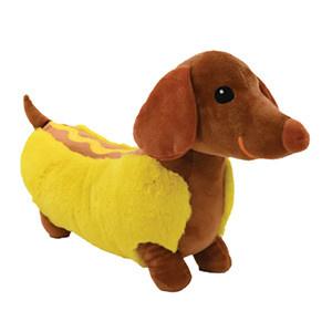 Iscream Hot Dog Furry Pillow