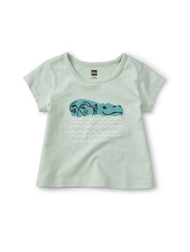 Tea Collection Hippo Love Baby Tee