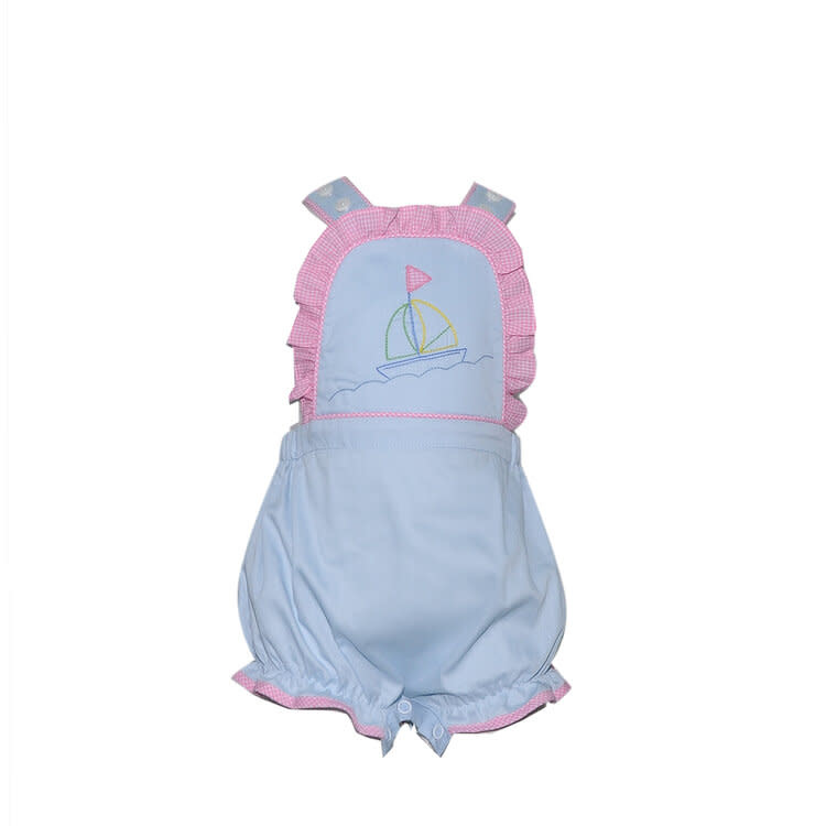 Lullaby Set Brooke Sailboat Embroidered Bubble