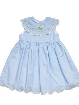 The Oaks Apparel Olivia Blue Tulip Dress