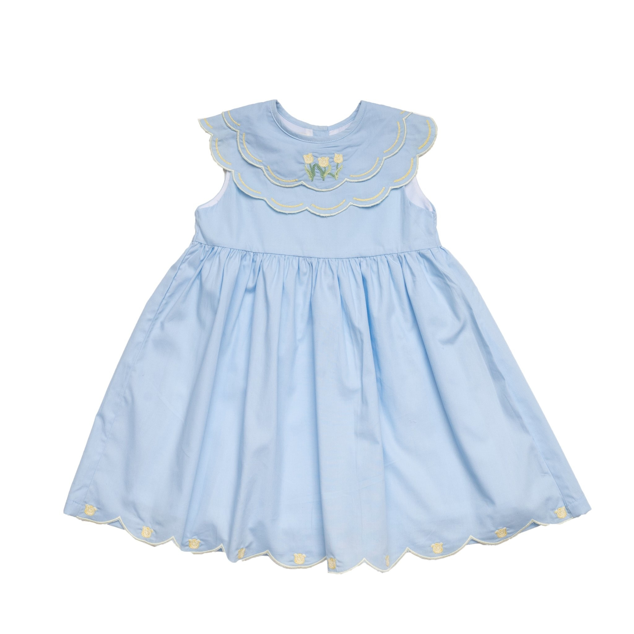 The Oaks Apparel Olivia Blue Tulip Dress
