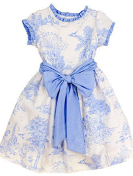 Bailey Boys Blue Belle Toile Empire Dress
