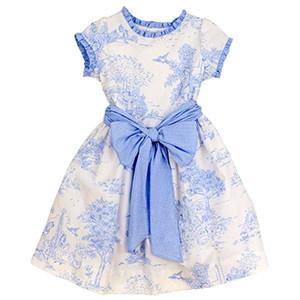 Bailey Boys Blue Belle Toile Empire Dress