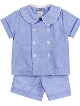 Bailey Boys Blue Belle Check Short Set