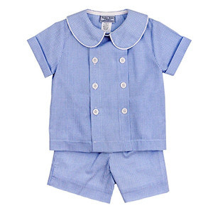 Bailey Boys Blue Belle Check Short Set