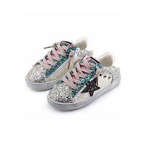Lola & the Boys Star Glitter Sneakers