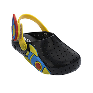 Mini Melissa Black/Yellow Sandal