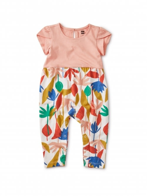 Tea Collection Egyptian Floral Tulip Sleeve Romper