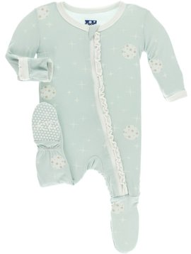 Kickee Pants Spring Sky Full Moon Ruffle Footie