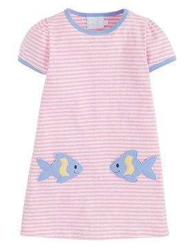 Little English Fishies T-Shirt Dress