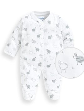 JoJo Maman Bebe Sheep Sleepsuit