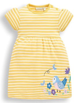 JoJo Maman Bebe Bird Applique Dress