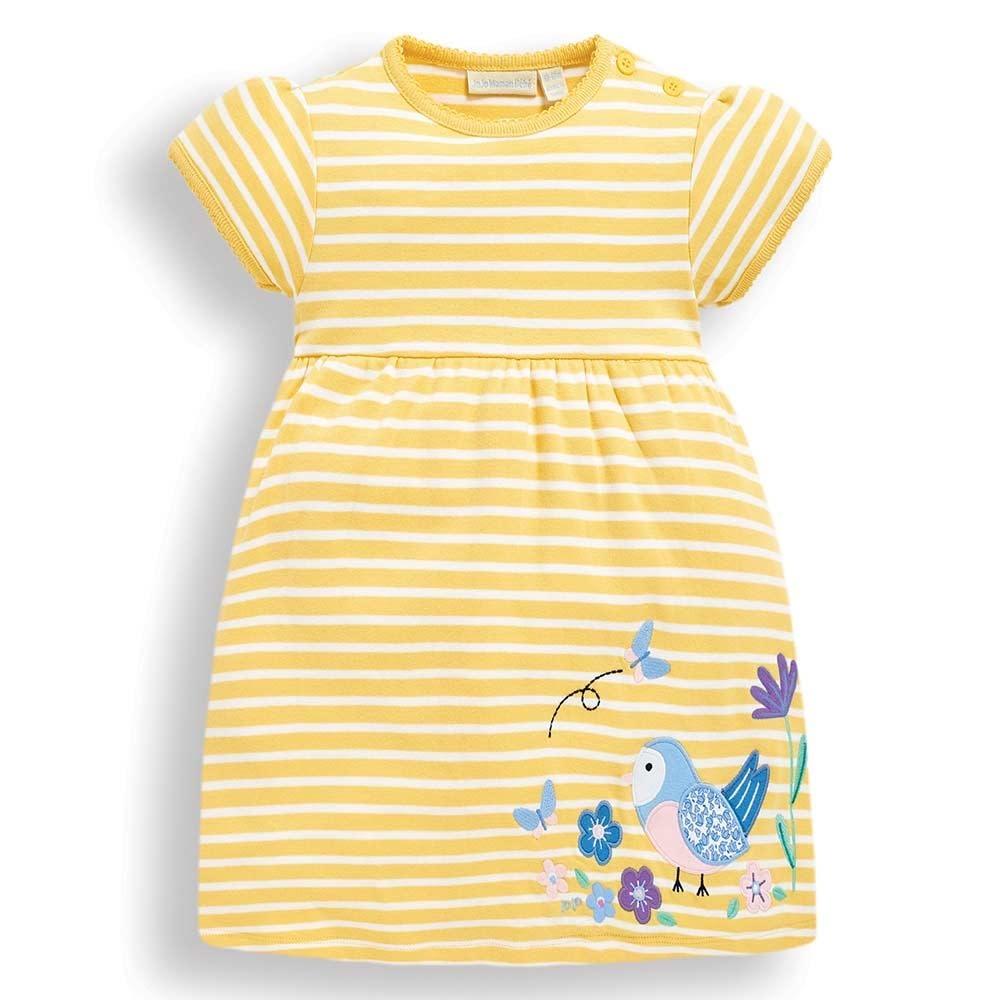 JoJo Maman Bebe Bird Applique Dress
