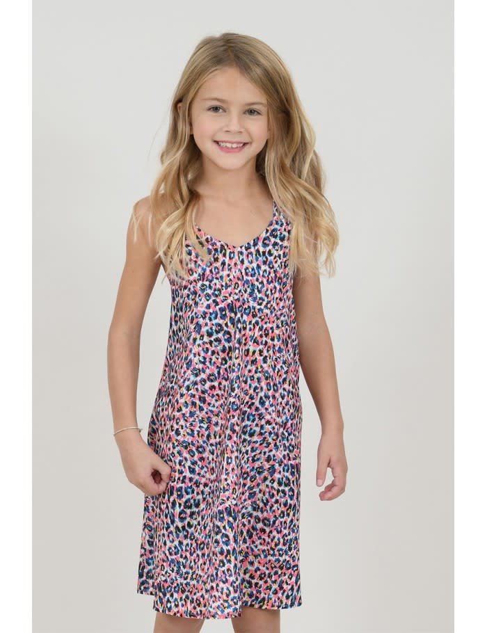 Mini Molly Pastel Panther Halter Dress