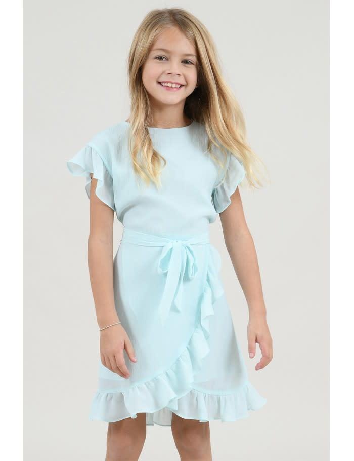 Mini Molly Green Mint Ruffle Dress