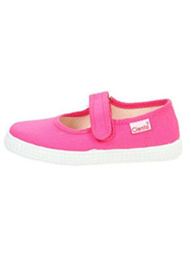 Cienta Fuchsia Canvas Mary Jane