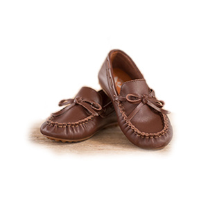 The Oaks Apparel Brown Leather Loafers