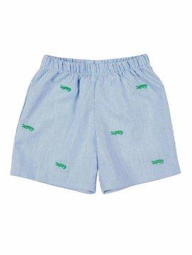 Florence Eiseman Embroidered Alligator Shorts